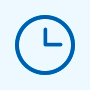 On time guarantee of shipping time icon